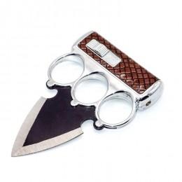 KT11 Push Dagger Knife & Brass Knuckles with lighter
