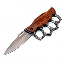 KS40 Semiautomatic Knife - Brass Knuckles - M