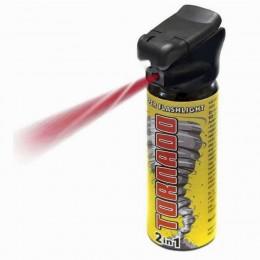 PS27 Pepper Spray Flashlight POLICE TORNADO for professionals - 50 ml - ESP