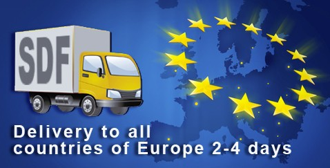Delivwery to all countries of Europe 2-4 days